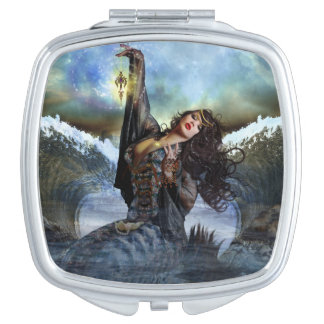 Sea Witch Mermaid Art Compact Mirror