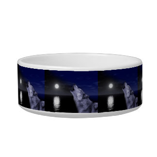 Sea wolf - moon wolf - full moon - wild wolf bowl