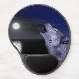 Sea wolf - moon wolf - full moon - wild wolf gel mouse pad