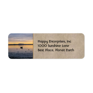 Seabirds and Boat Return Address Label