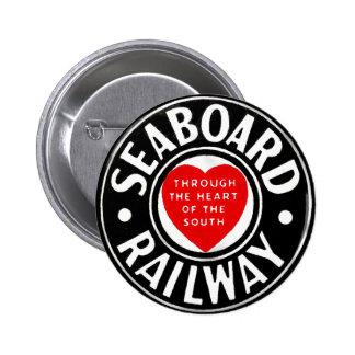 Seaboard Air Line Railway Heart Logo 6 Cm Round Badge