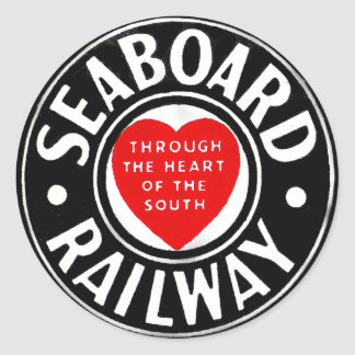 Seaboard Air Line Railway Heart Logo Classic Round Sticker
