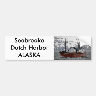 Seabrooke, Crab Boat in Dutch Harbor, Alaska Bumper Sticker