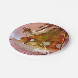Seadragon with marlin, hunter and hunted 7 inch paper plate