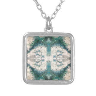 Seafoam 2 pattern silver plated necklace