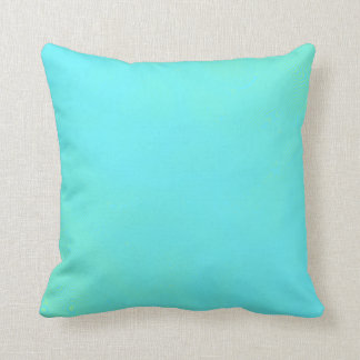 Seafoam and Aqua Blue Gradient Swirl Pillow