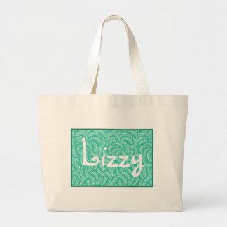 Seafoam Aqua Green Japanese Tropical Fans Jumbo Tote Bag