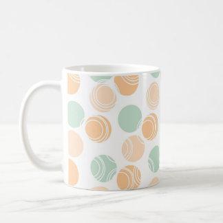 Seafoam Green, Peach, and White Polka Dots Mugs