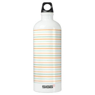 Seafoam Green, Peach, and White Stripes SIGG Traveller 1.0L Water Bottle