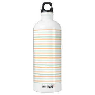 Seafoam Green, Peach, and White Stripes SIGG Traveller 1.0L Water Bottle