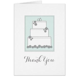 Seafoam Green Wedding Cake Thank You Notecard