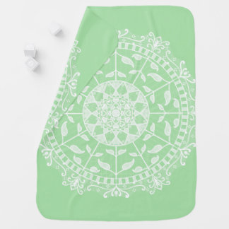 Seafoam Mandala Baby Blanket