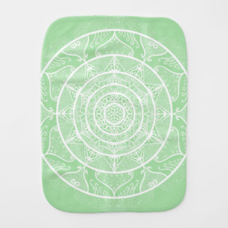 Seafoam Mandala Burp Cloth