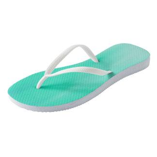 Seafoam Ombre Wave flip-flops Thongs