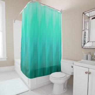 Seafoam Ombre Wave Shower Curtain