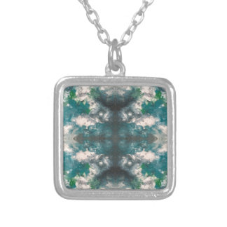 Seafoam Pattern Silver Plated Necklace