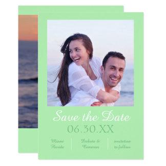 Seafoam Photo Vertical - Save the Date Card