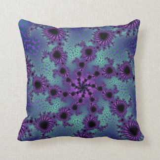Seafoam Purple Obliteration Throw Pillow