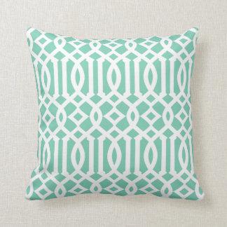 Seafoam Trellis | Throw Pillow