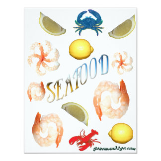 "Seafood! 4.25"" X 5.5"" Invitation Card"