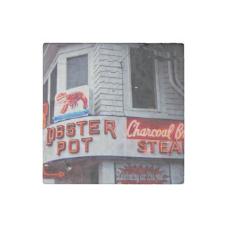 seafood and steaks restaurant stone magnet