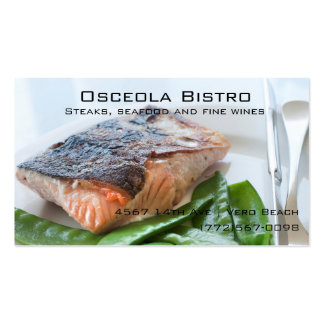 Seafood Bistro Restaurant Business Card