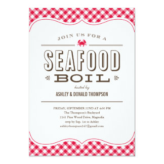 Seafood Boil Invitations