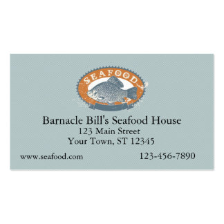 Seafood Business Card Templates