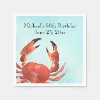 Seafood Crab Boil Birthday Party Disposable Napkin