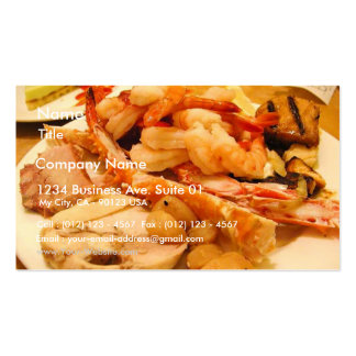 Seafood Crabs Legs Shrimp Food Business Card Templates