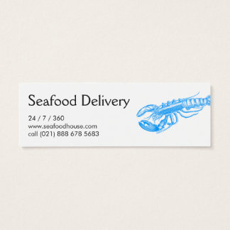 Seafood delivery mini business card