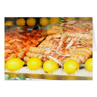 Seafood Greeting Card