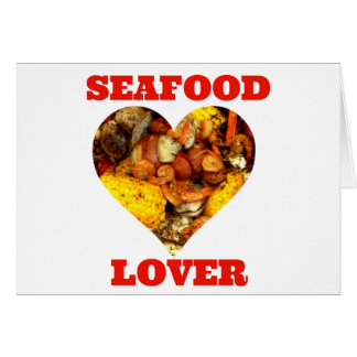SEAFOOD LOVER GREETING CARD