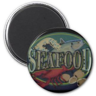 Seafood 6 Cm Round Magnet