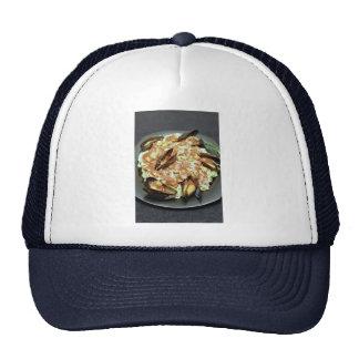 Seafood pasta mesh hat