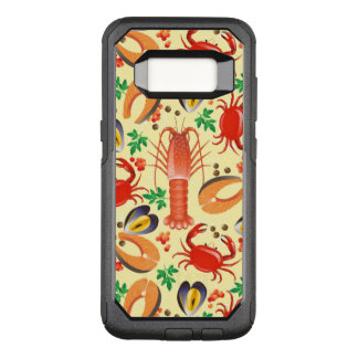 Seafood Pattern OtterBox Commuter Samsung Galaxy S8 Case