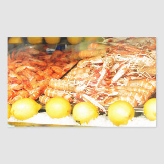 Seafood Rectangular Sticker