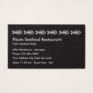 Seafood Restaurant Business Profile Card