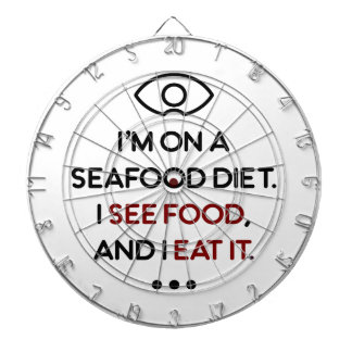 Seafood See Food Eat It Diet Dartboard