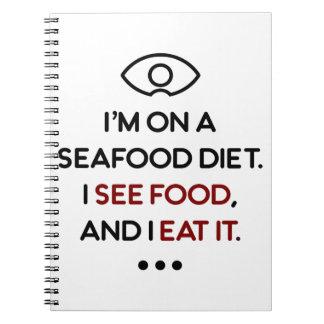 Seafood See Food Eat It Diet Notebook