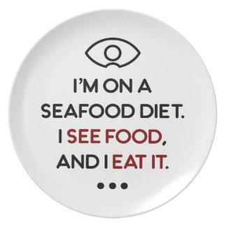 Seafood See Food Eat It Diet Plate