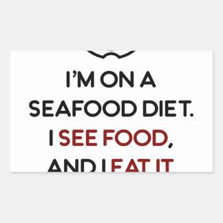 Seafood See Food Eat It Diet Rectangular Sticker