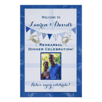 Seafood theme party decor poster