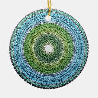 Seaglass Mandala Ceramic Ornament