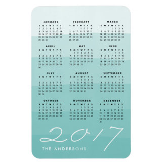 Seaglass   Personalized Watercolor 2017 Calendar Magnet