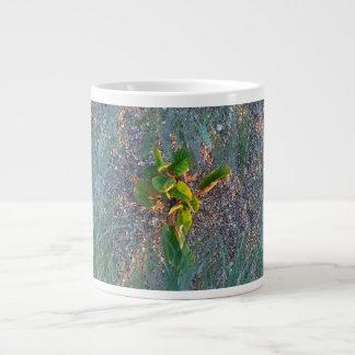 seagrape with grass overlay jumbo mug