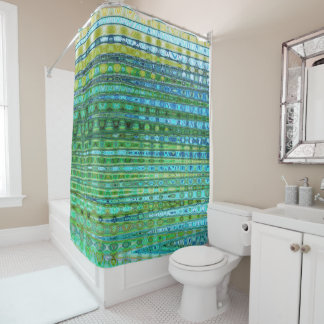 Seagrass Shower Curtain I by Artist C.L. Brown