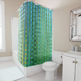 Seagrass Shower Curtain II by Artist C.L. Brown