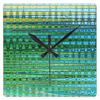 Seagrass Square Clock by Artist C.L. Brown