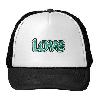 Seagreen Polkadot Love Trucker Hats
